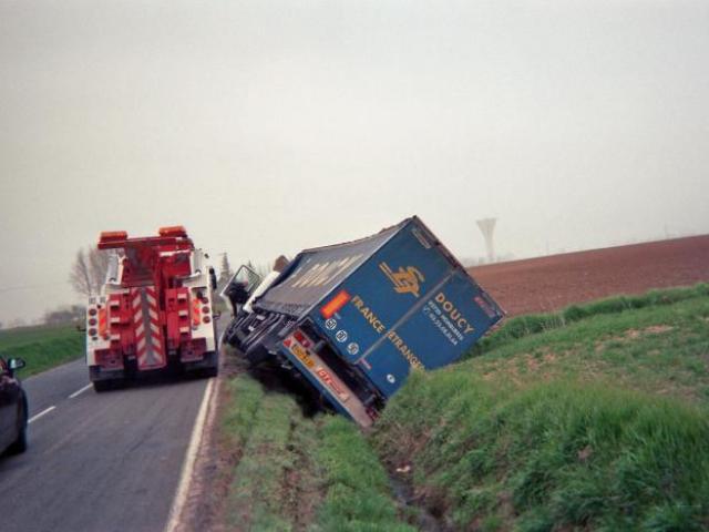 Sortie de route sans gravité